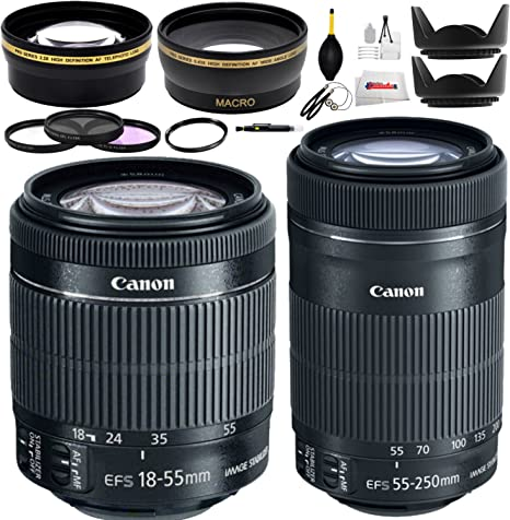Doble Canon Kit de lentes para Canon EOS 7d, 60d, 60Da, 70d, EOS ...