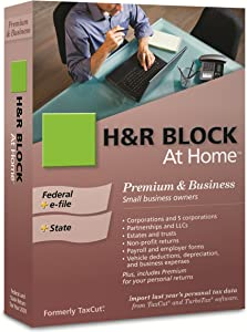 H&R Block At Home 2009 Premium & Business Federal + State + eFile [OLD VERSION]