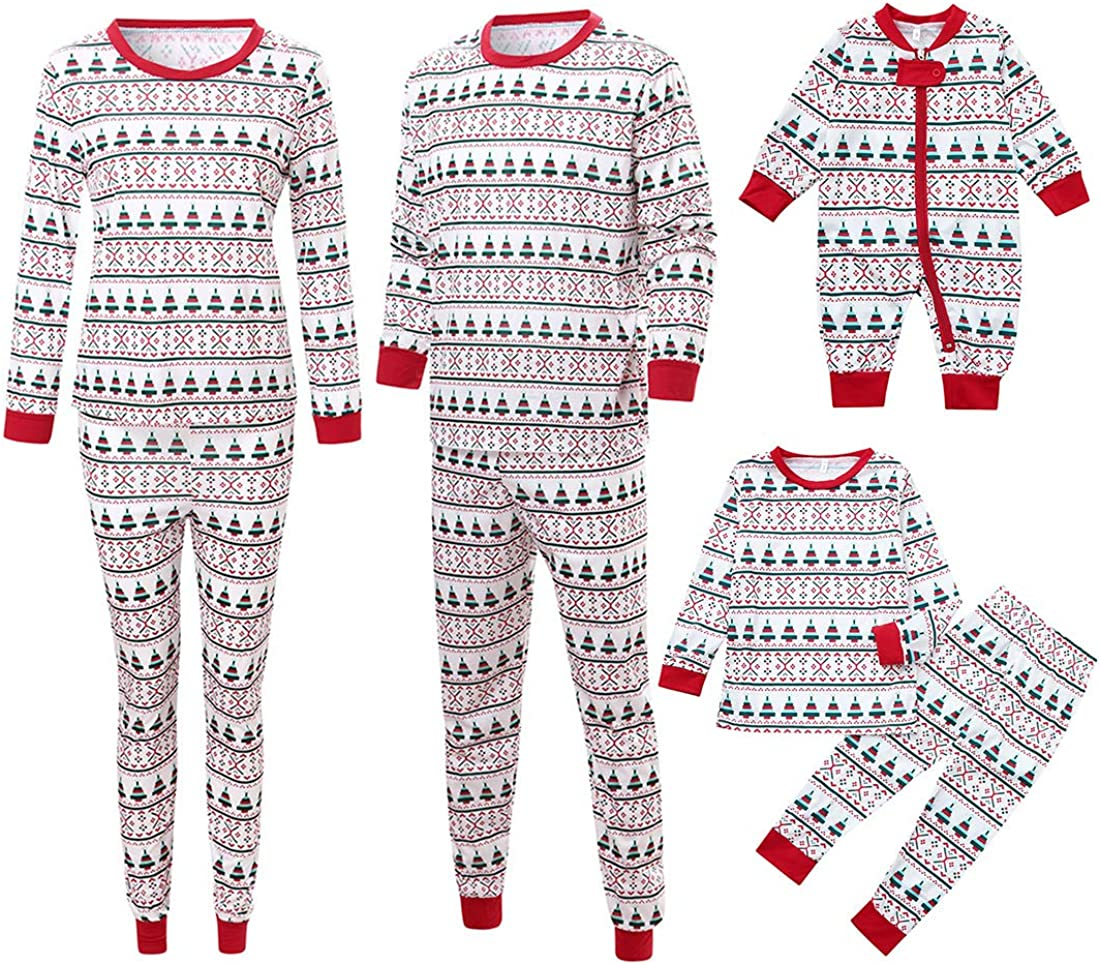 Inlefen Navidad Familia Partido Traje para Papá Mamá Niños Bebé Ropa de Dormir Dos Pieza Conjunto Ropa de casa: Amazon.es: Ropa y accesorios