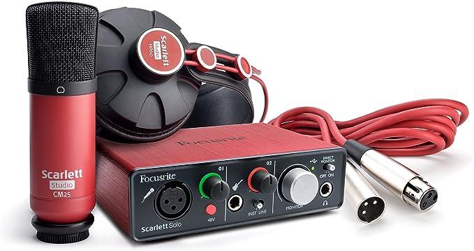 Focusrite - Scarlett solo studio pack: Amazon.es: Instrumentos musicales