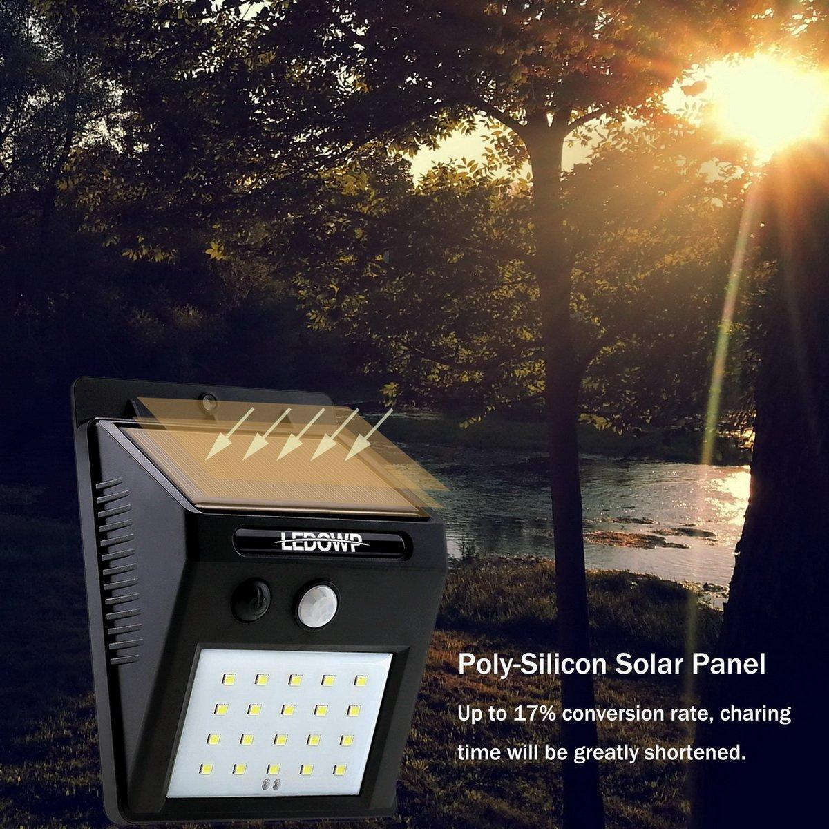 20 LED Solar Powered Motion Sensor Außen Licht, WLAN-3 Intelligente ...