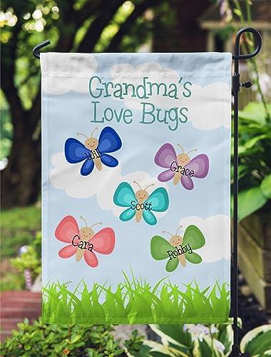 Mothers Day Grandma Garden Flag Love Bugs