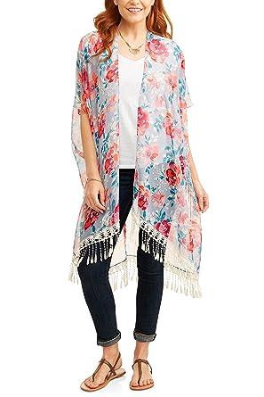 Amazon.com: TIME & TRU Kimono - Bañador para mujer con ...