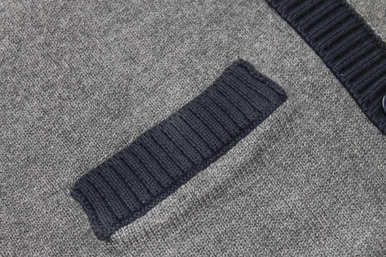 Bienzoe Big Boy's School Uniforms Cotton Antistatic V-neck Cardigan Sweater 14 by Bienzoe (Image #5)