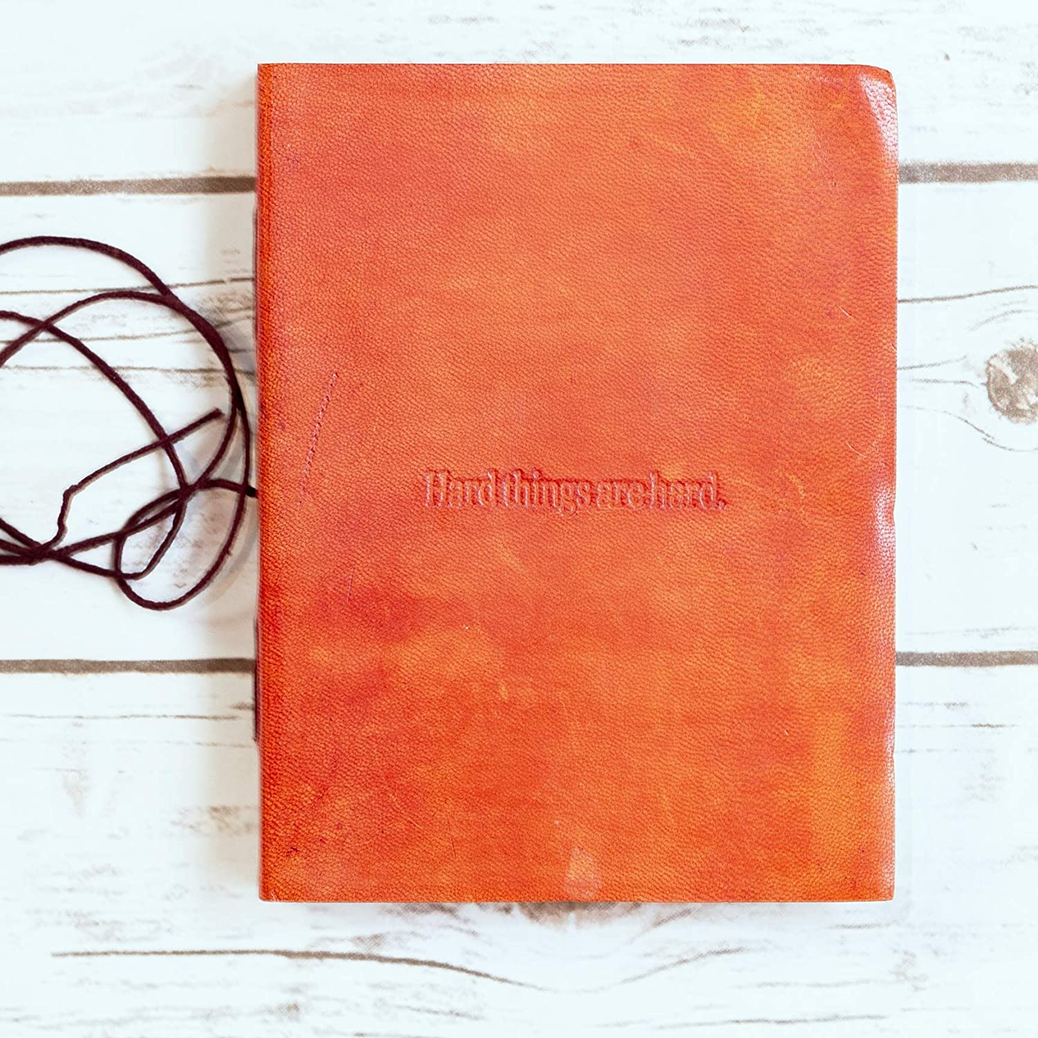 'Hard Things Are Hard' Handmade Leather Journal