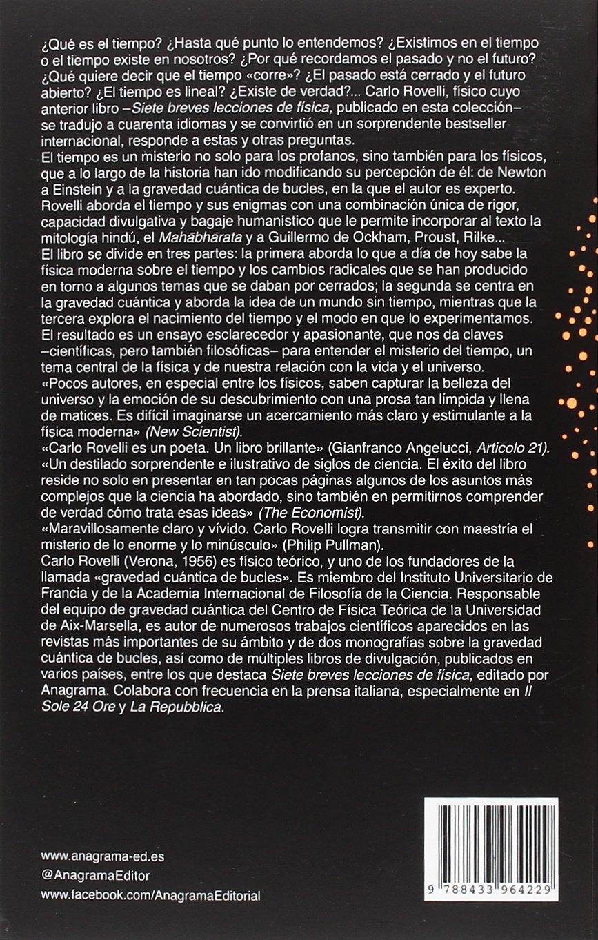 El orden del tiempo (Spanish Edition): Carlo Rovelli: 9788433964229:  Amazon.com: Books