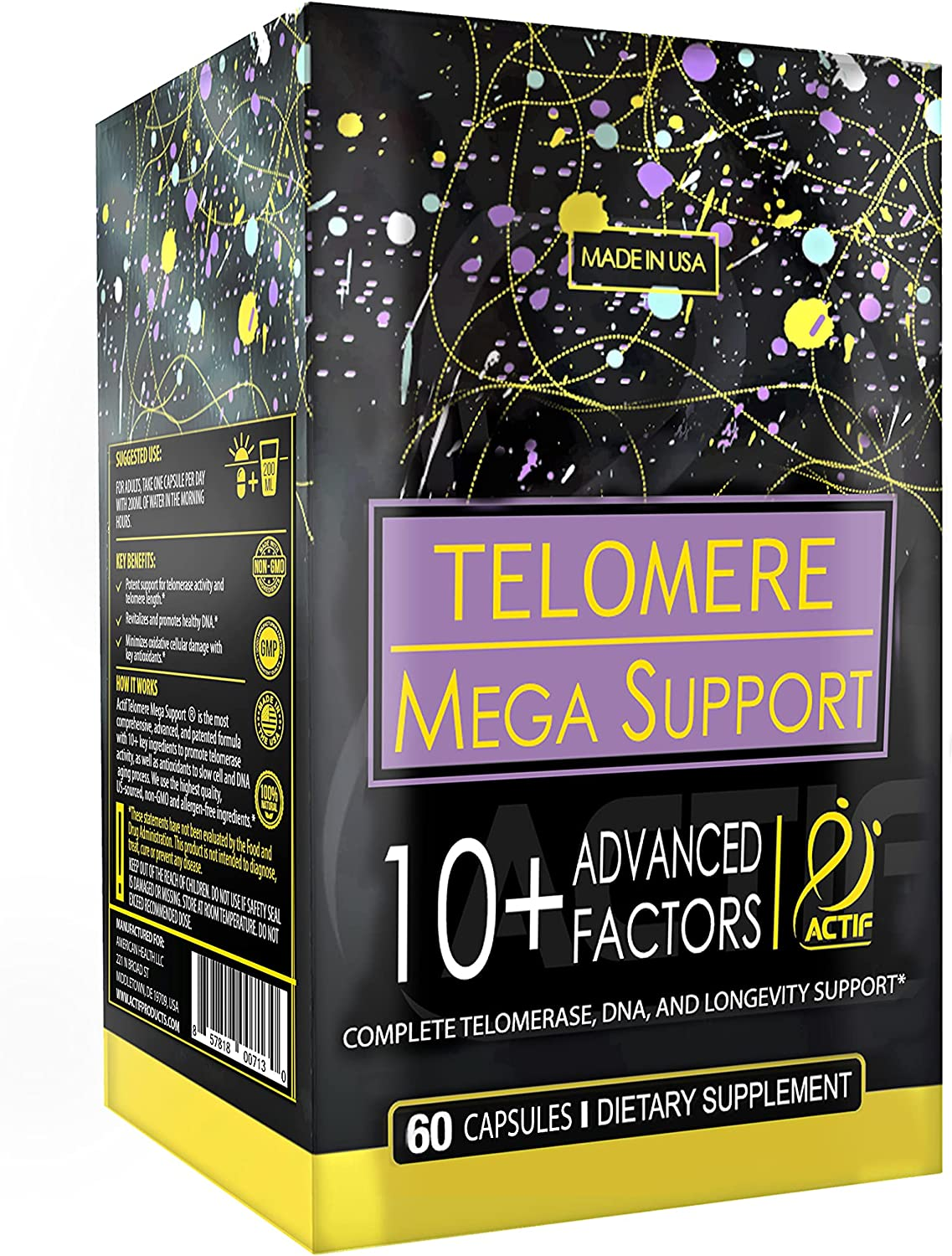 Actif Telomere Mega Support mart with 10+ Non-GMO Energ OFFicial site for Factors