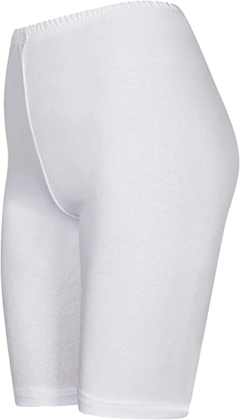 DeDavide Shorts Cycliste en Coton Longueur Genou pour Filles 16 diff/érentes Couleurs