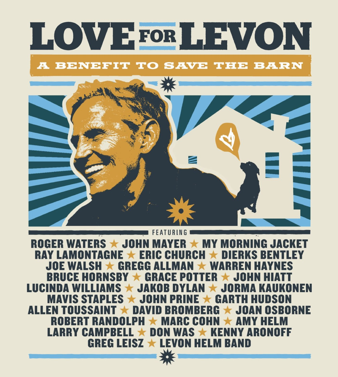 Blu-ray : Love for Levon - Love for Levon: A Benefit to Save the Barn (Super Jewel Box, 2 Disc)