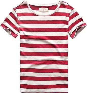 Zecmos قمصان مخططة للرجال قمصان ضيقة غير رسمية وقمصان مخططة