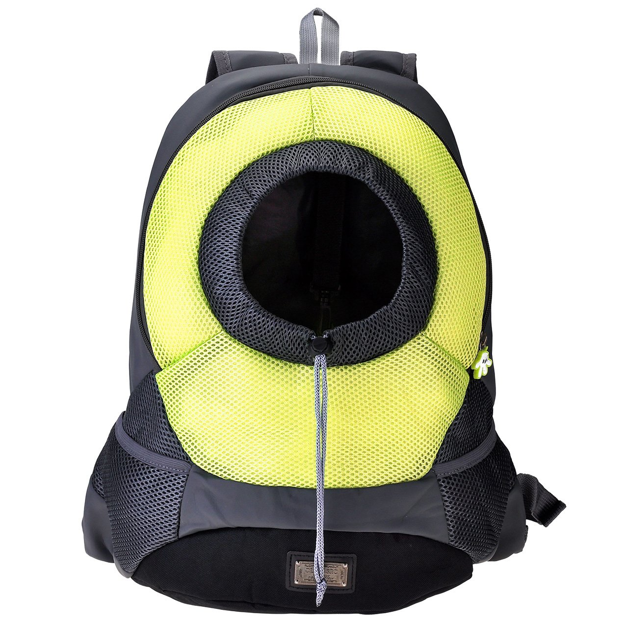 Yerwal Dog Cat Pet Carrier Portable Outdoor Travel Backpack (L , Yellow )