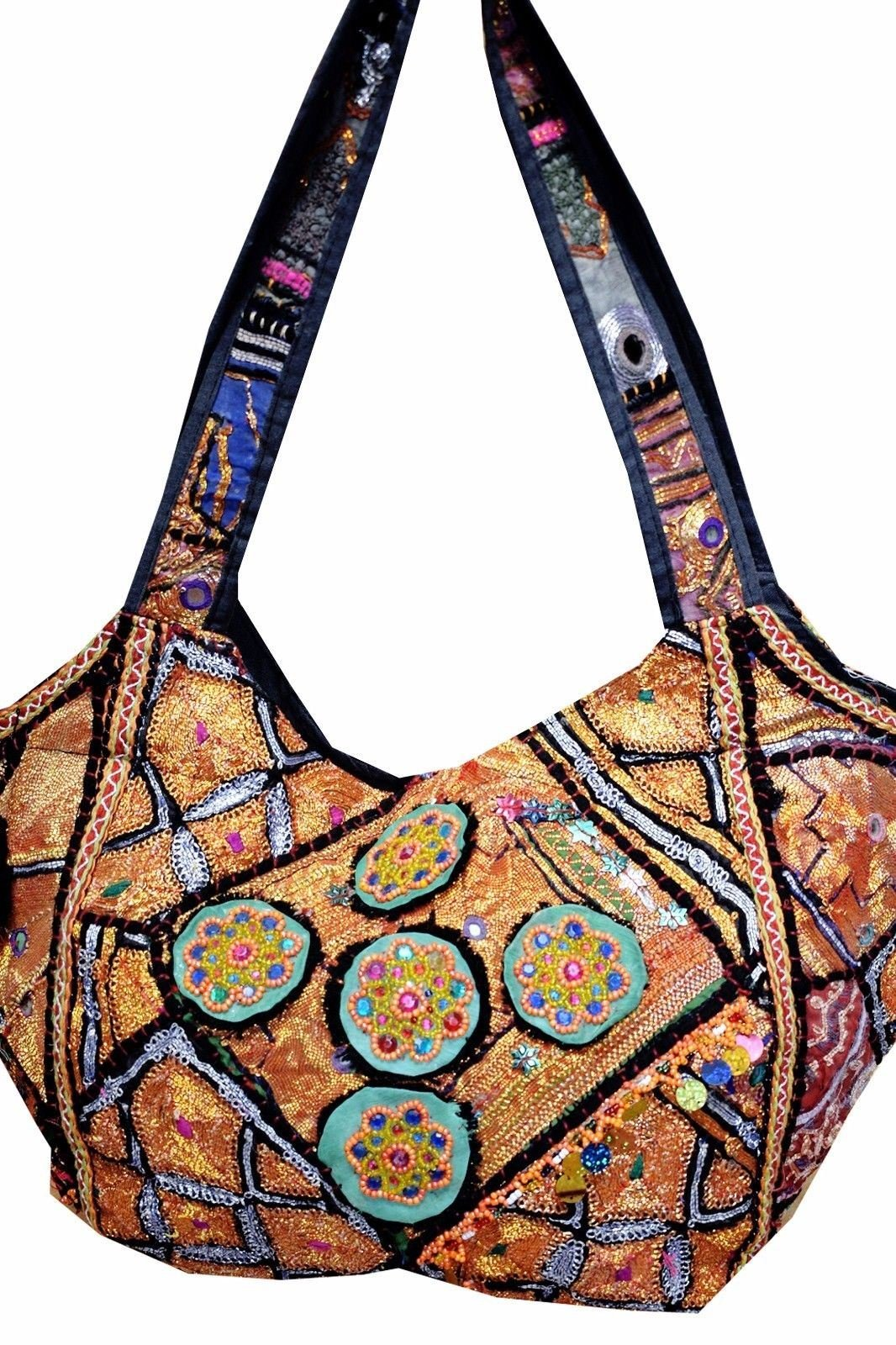 New Womens Handmade Vintage Tribal Patchwork Indian Ethnic Tote Hippie Gypsy Bohemian Shoulder Bag by Gypsia Studio (Image #2)