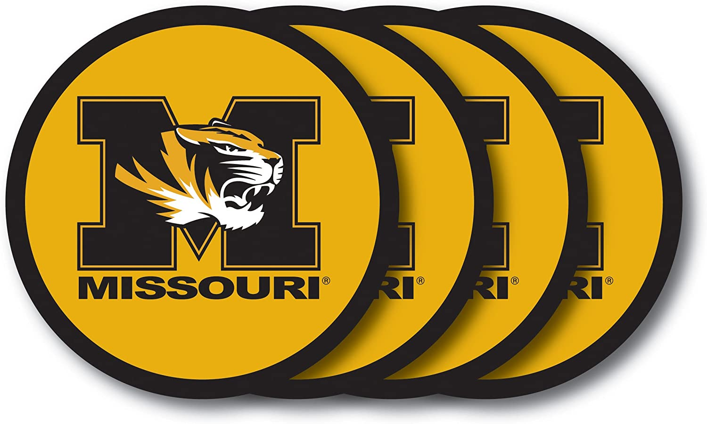 NCAA Missouri Tigers Vinyl Coaster Set (Pack of 4)
