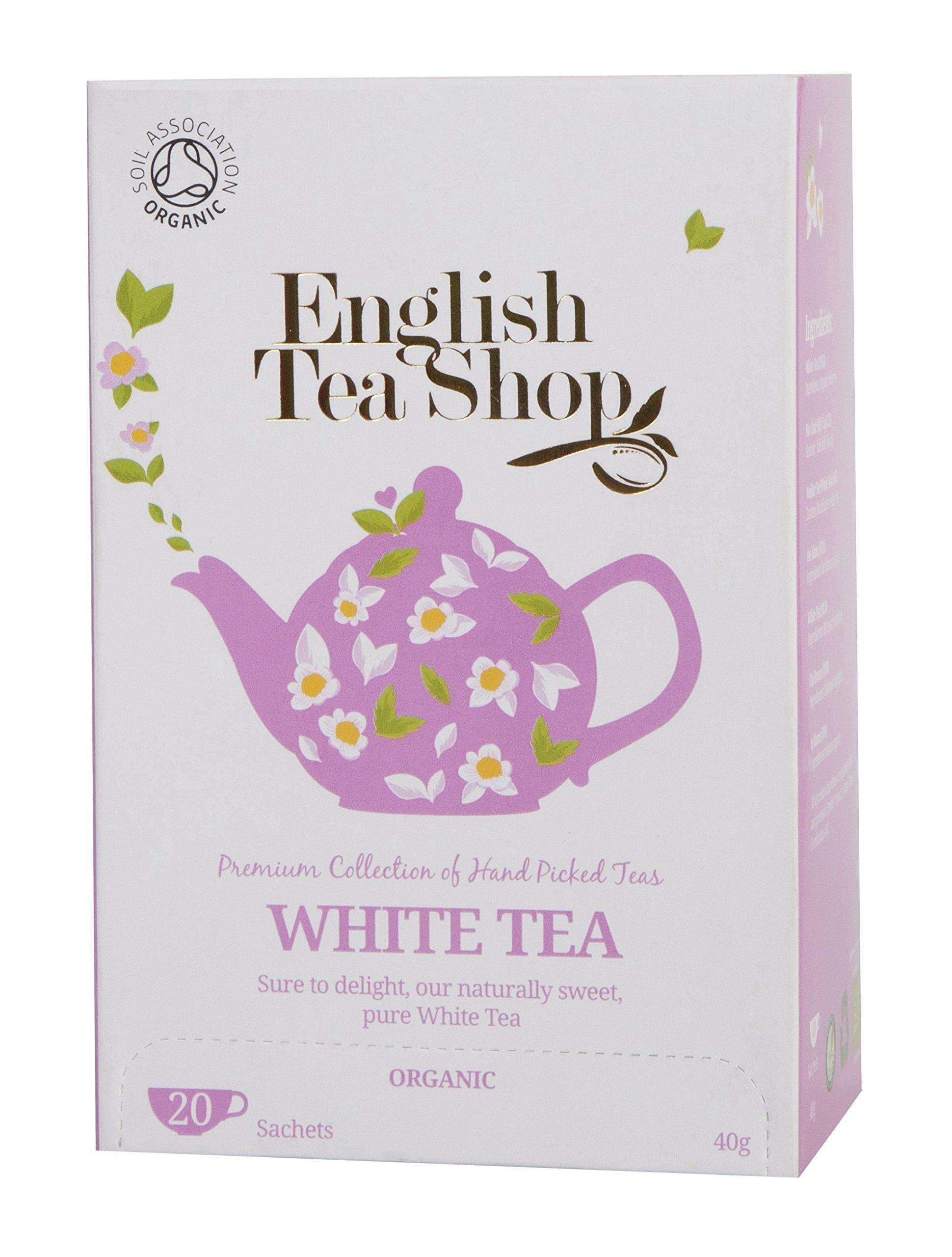 English Tea Shop White Tea Tea Bags, 40 Gram (Pack of 6)