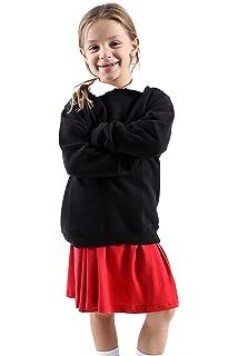 BOYS//KIDS SCHOOL JUMPER CREW /& V NECK UNIFORM FLEECE SWEATSHIRT JUMPER ALL SIZES