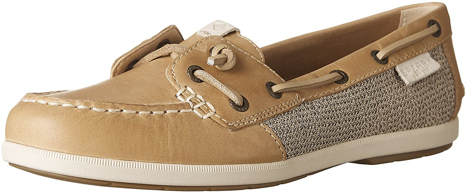 Sperry Top-Sider Women's Coil Ivy Leather/Canvas Boat Shoe B0000DCSHR 11 B(M) US|Linen