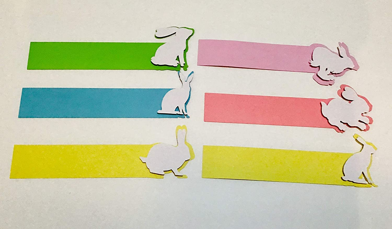 Large Easter Bunny Napkin Rings Set of 6