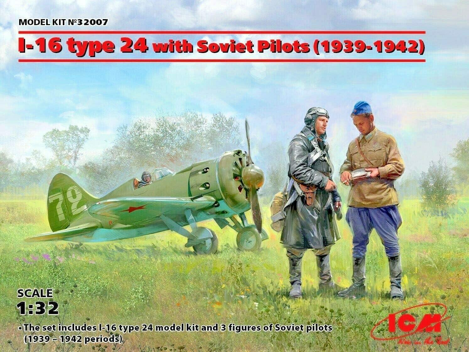 Neu WWII Soviet Fighter ICM 32003-1:32 I-16 type 29