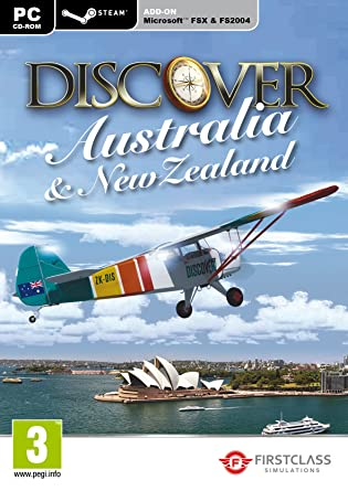 Discover Australia and New Zealand - FSX and Steam (PC CD