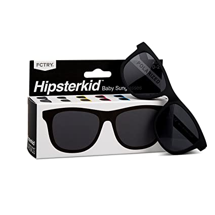 f7fcbef09e Hipsterkid BPA Free, Warranty Protected, Polarized Sunglasses for Babies,  Ages 0-2, in Classic Black