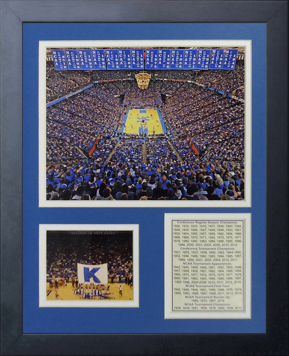 Legends Never Die Kentucky Wildcats Rupp Arena Collage Photo Frame 11 x 14