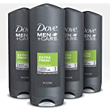 Dove Men+Care Body Wash and Shower Gel Extra Fresh 18 oz 4 Count Dermatologist Recommended Shower Gel and Bodywash…