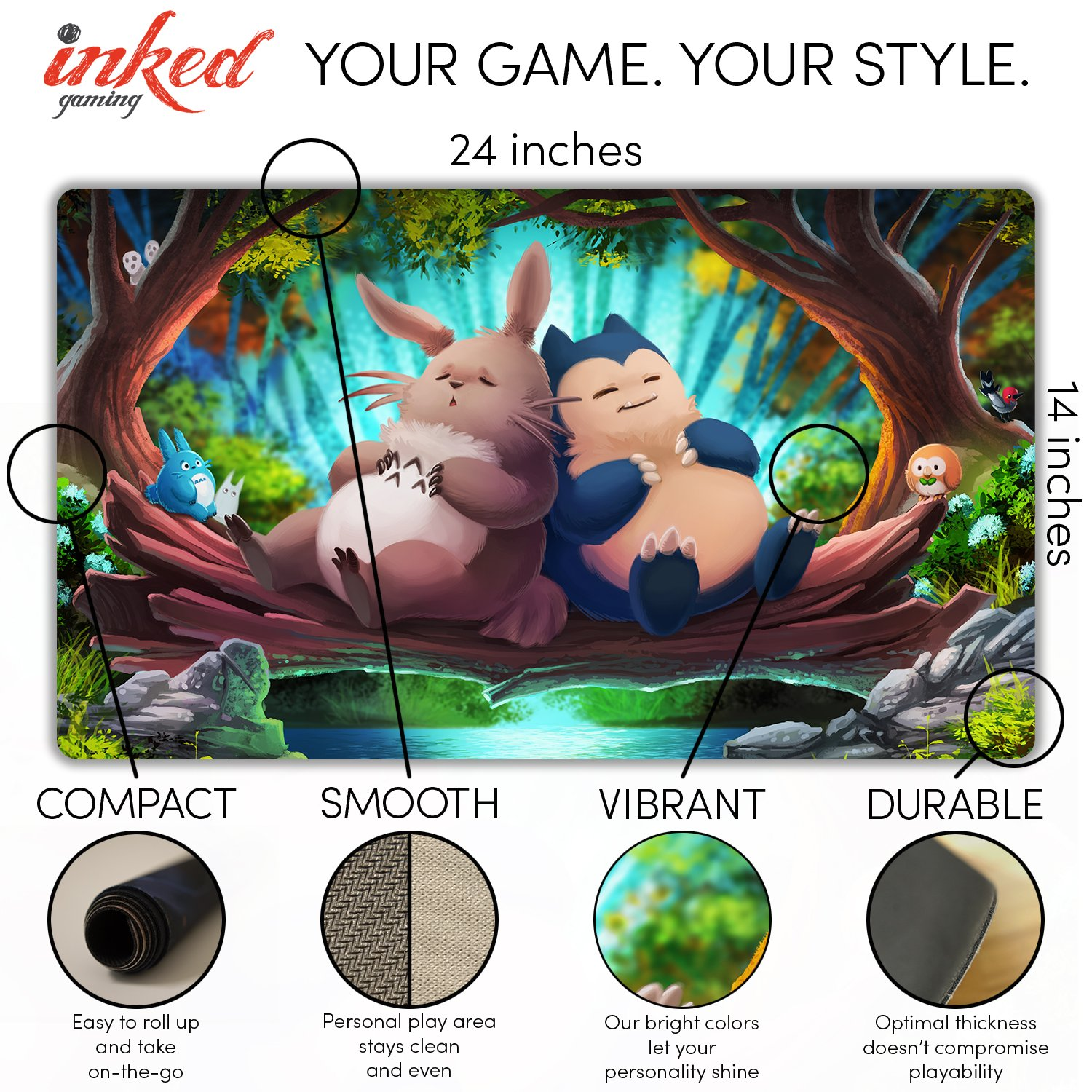 Inked Playmats Snooze Patrol Playmat Inked Gaming Perfect for Card Gaming TCG Game Mat