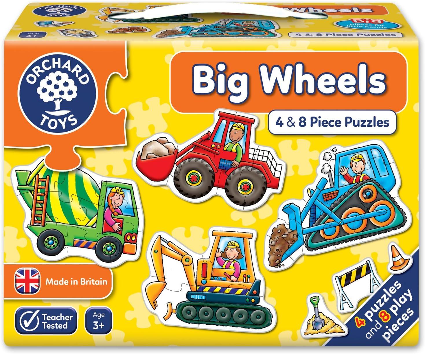 Orchard_Toys - Puzle infantil, diseño de vehículos de construcción [importado del Reino Unido]