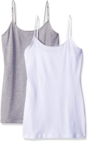 99b5b4a471b9e PURE STYLE Girlfriends Women s Cami Tank with Adjustable Strap 2-Pack at  Amazon Women s Clothing store
