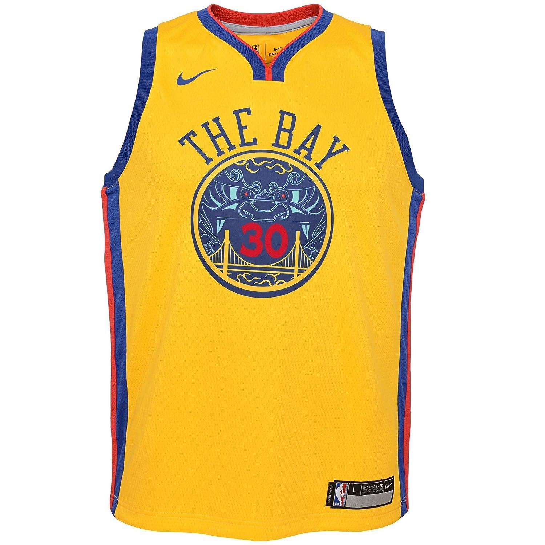 Nike NBA Golden State Warriors Stephen Curry 30 SC30 2017 2018 City Edition Jersey Official, Camiseta de Niño: Amazon.es: Deportes y aire libre