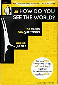 How Do You See The World? 500-Question Card Game for Adults, Teens, and Families - Game Night Conversation Starters and Ice Breakers - Includes Dice and 100 Cards with 500 Questions