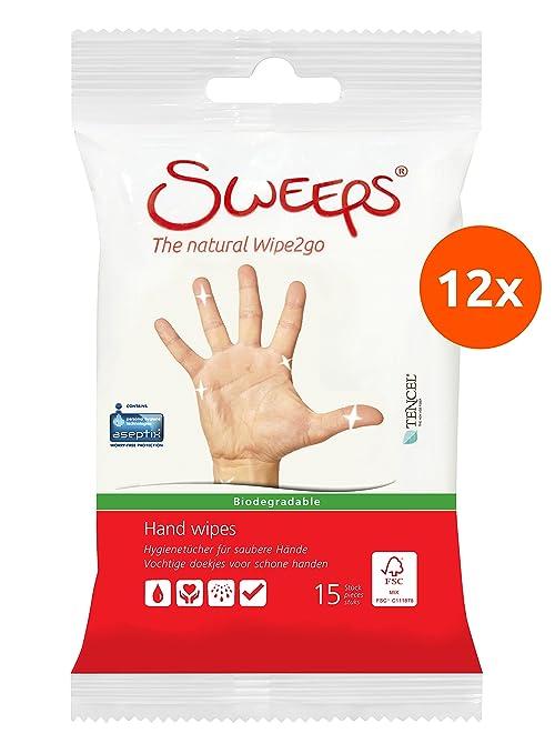 Sweeps Toallitas húmedas para manos - 12 x 15 (180 toallitas)