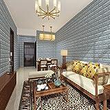 kinlo 15pcs 3d ziegelstein tapete wandpaneele steinoptik selbstklebend pe schaum f r. Black Bedroom Furniture Sets. Home Design Ideas