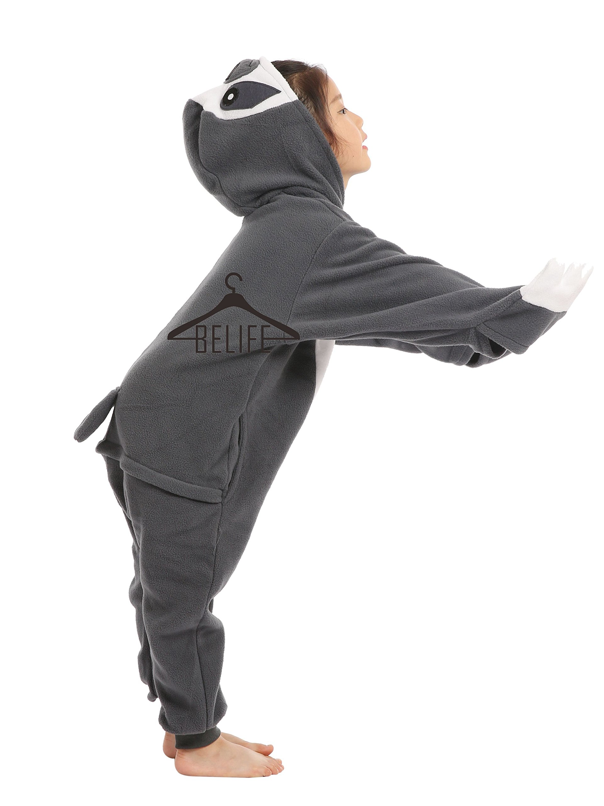 BELIFECOS Unisex Parent-Child Outfit Kids Sloth Cosplay Costume Onesie Pajamas