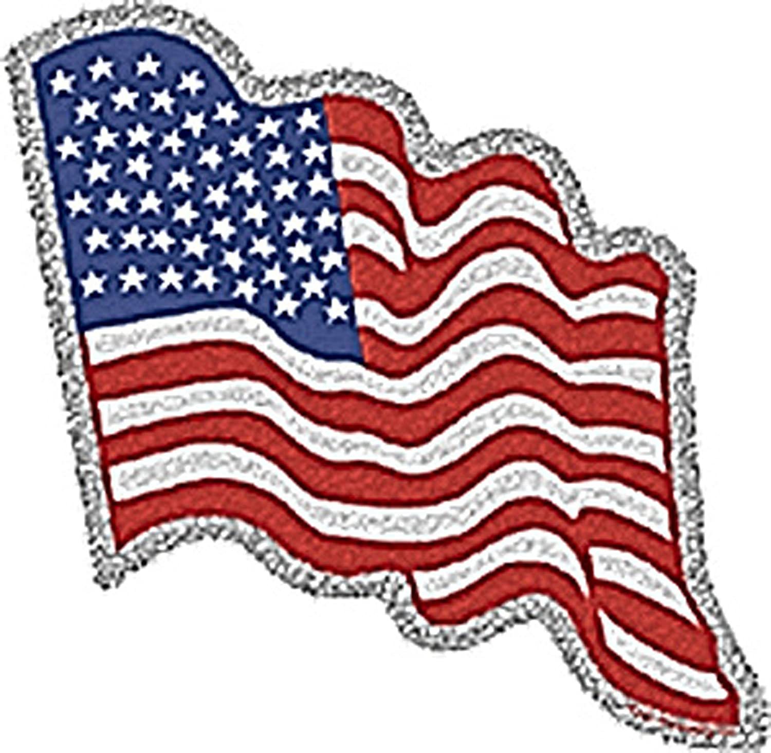 Licenses Products American Flag Glitter Sticker C/&D Visionary Inc S-1586-G