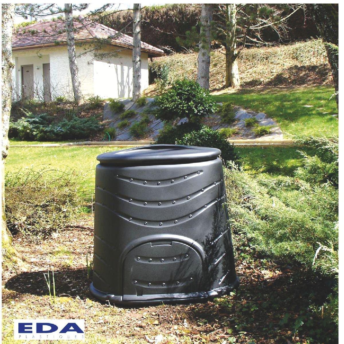 EDA Cubo para Compost, 450 L, 130 x 77,5 x 96,6: Amazon.es ...