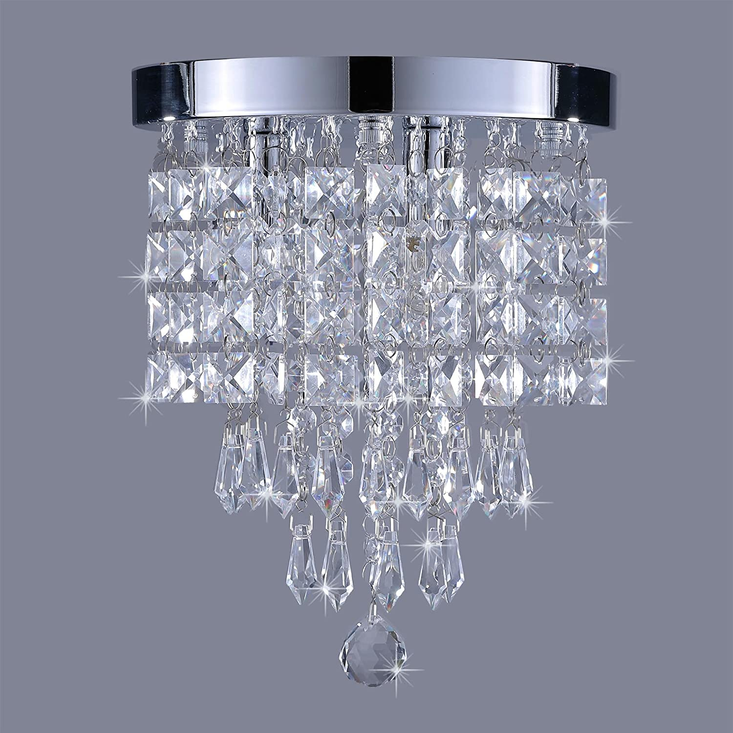 CO Z Mini Crystal Chandelier with 3 Lights