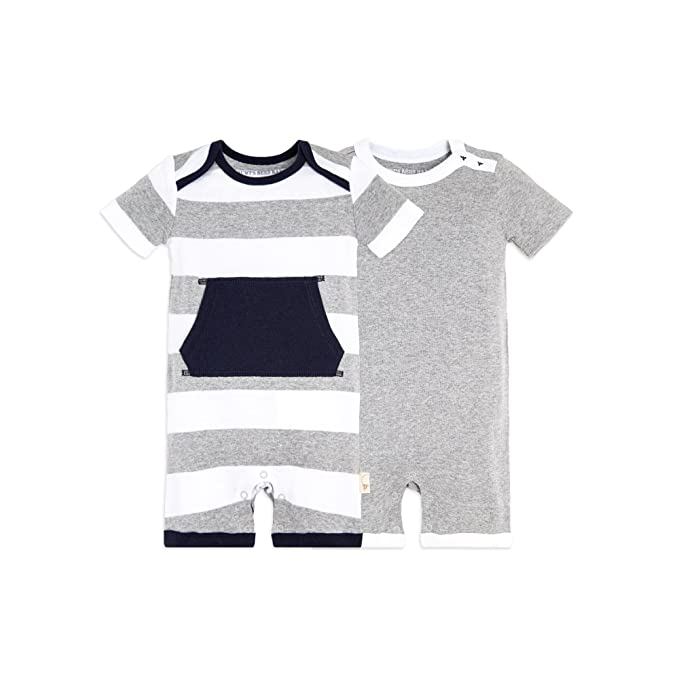 d052015de Amazon.com  Burt s Bees Baby - Baby Boys  Short Sleeve Rompers 2 ...