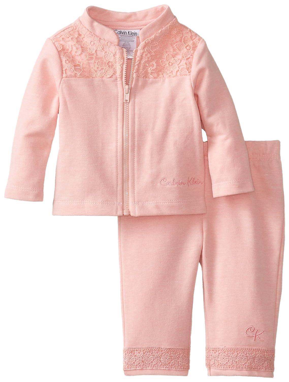 Amazon.com: Calvin Klein Baby-Girls Newborn Jacket Set, Pink, 6-9 ...