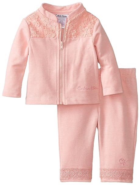 66107f5d4c Amazon.com  Calvin Klein Baby-Girls Newborn Jacket Set