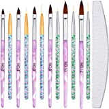 13 Pieces Nail Art Brushes Set Includes 6 Acrylic Nail Art Painting Brush Nail Painting Design Pen, 6 Nail Liner Brush…