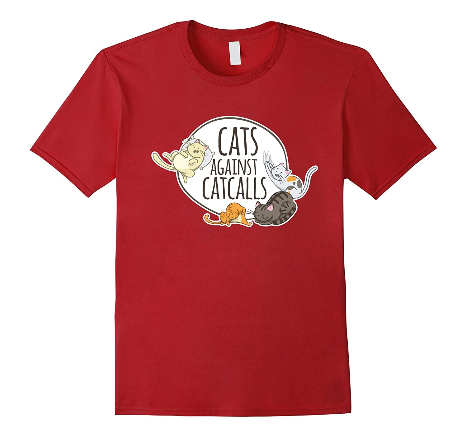 Cats against catcalls shirt Feminist Quote Gifts-FL