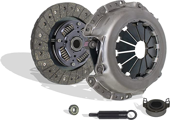 Clutch Kit compatible with Corolla Matrix MR2 Spyder Celica Pontiac Vibe Geo Prizm Base Gsi Lsi S Ce Le St Xr 1.6L L4 1.8L L4 GAS DOHC Naturally Aspirated (1ZZ-FE; 2ZZ-GE)