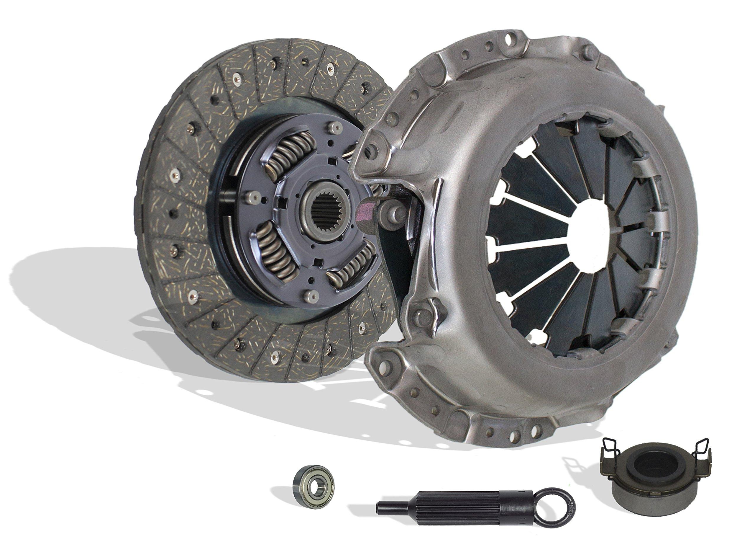 Clutch Kit Works With Toyota Corolla Matrix MR2 Spyder Celica Pontiac Vibe Geo Prizm Base Gsi Lsi S Ce Le St Xr 1.6L L4 1.8L L4 GAS DOHC Naturally Aspirated (1ZZ-FE; 2ZZ-GE)