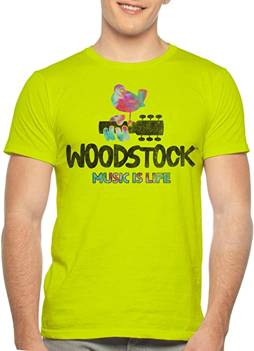 e54d97fdb Woodstock Festival Poster Men s Music is Life Graphic T Shirt Tee (S ...