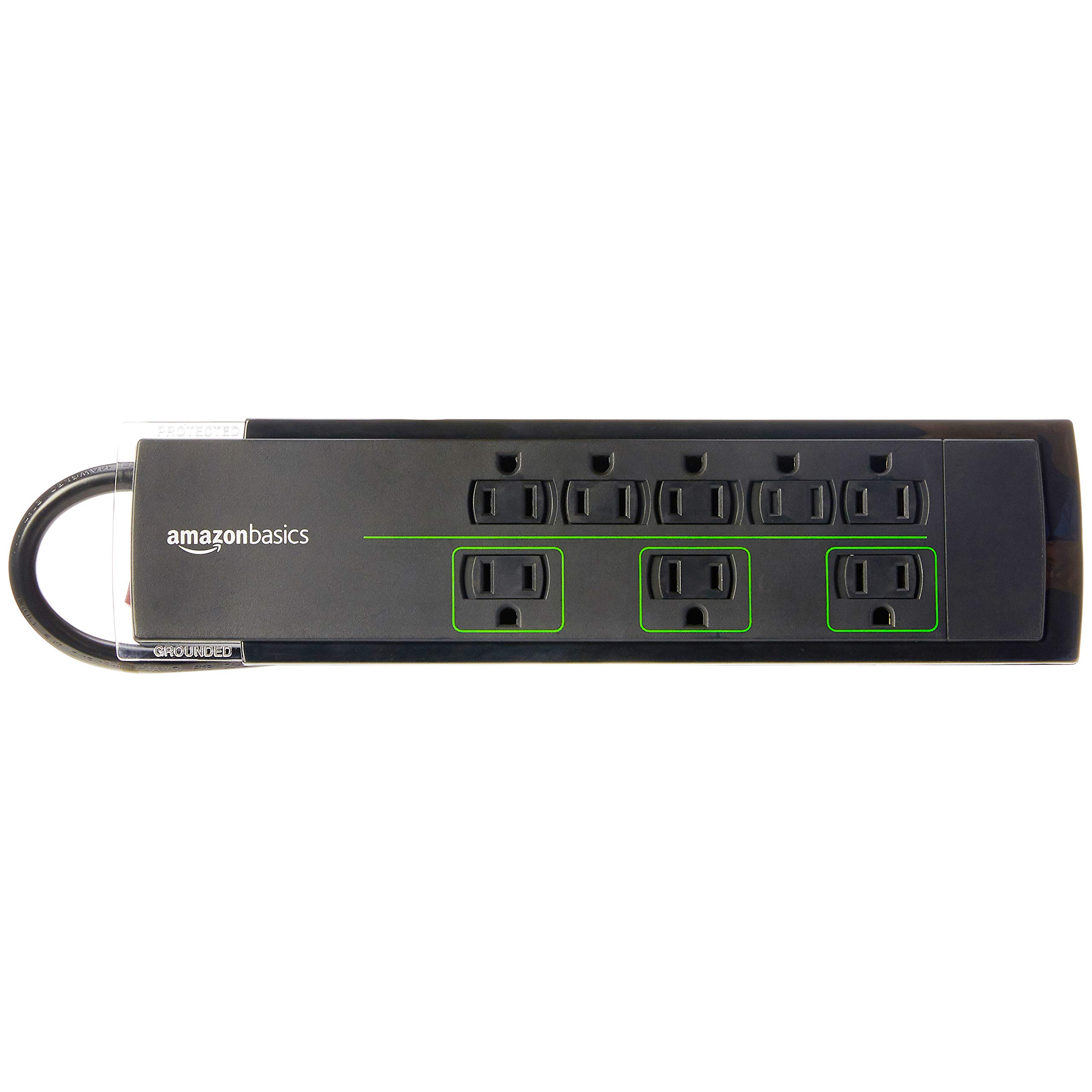 AmazonBasics 8-Outlet Power Strip Surge Protector | 4,500 Joule, 6-Foot Cord by AmazonBasics