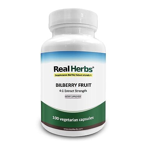 Real Herbs Extracto de Arándano 4:1 375mg – Rico Antioxidante, promueve la salud