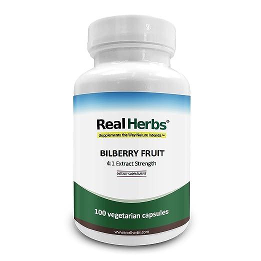 Real Herbs Extracto de Arándano 4:1 375mg - Rico Antioxidante, promueve la salud en la circulación sanguínea y mejor visión, mejora la salud cardiovascular ...