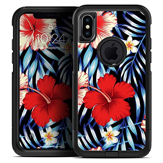 Amazon.com  Vivid Tropical Red Floral v1 - Skin Decal Kit for The ... e7f185f18