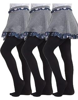 NEW School Girls Rich Cotton Tights Stocking 8-10 12-14 yrs,Black Navy Blue Grey